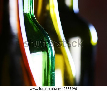 abstract bottle shapes - stock photo