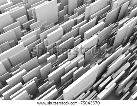 Abstract box background - stock photo