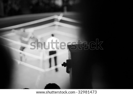 abstract boxing ring - stock photo