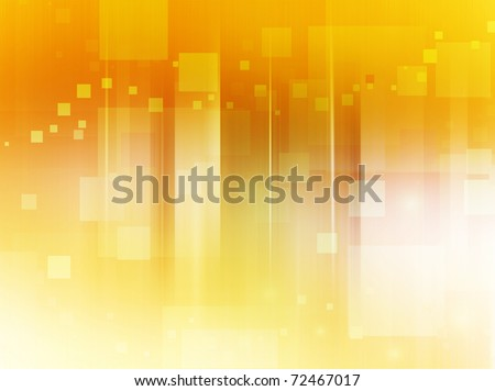 Abstract bright background in yellow, orange and brown tones made of scattered squares. - stock photo
