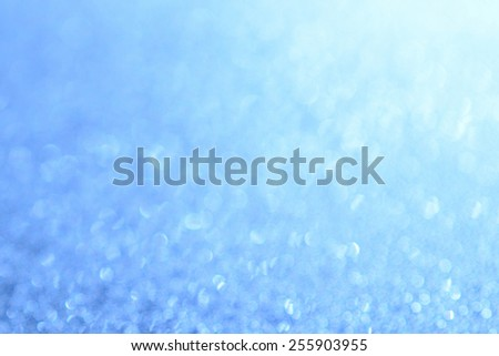 Abstract bright blue Background bokeh effect - stock photo