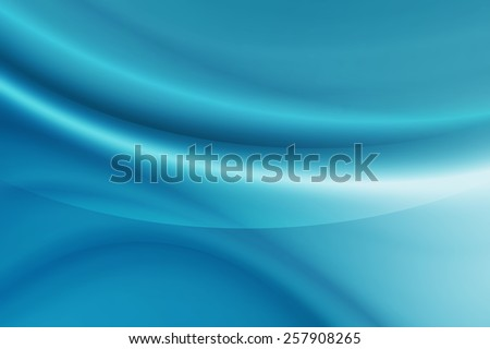 abstract bright blue curve background - stock photo