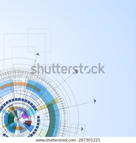 abstract bright circuit computer line technology business background - stock photo