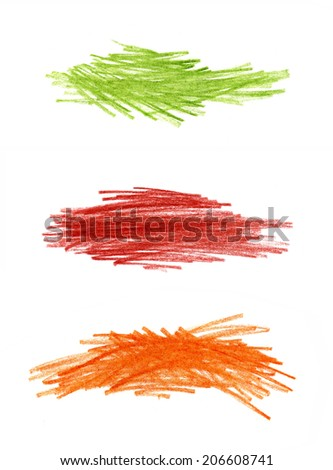 Abstract bright color hand drawn design element