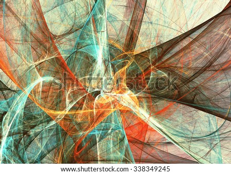 Abstract bright color motion composition. Modern futuristic dynamic background. Multicolor artistic pattern of paints. Fractal artwork for creative graphic design