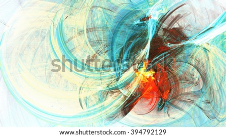 Abstract bright color motion composition. Modern futuristic dynamic background with lighting effect. Artistic painting texture. Fractal artwork for creative graphic design - stock photo