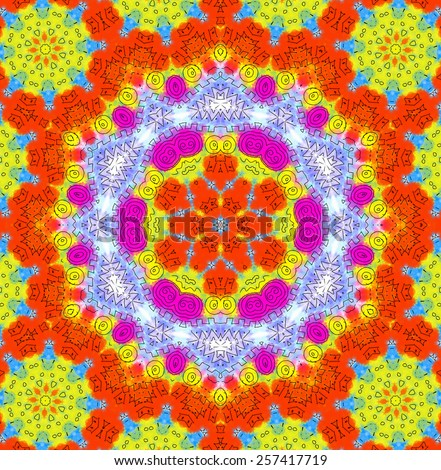 Abstract bright color pattern - stock photo