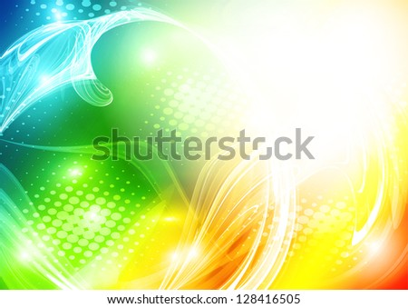 Abstract bright colorful card. Rasterized version - stock photo