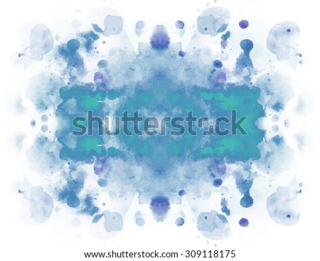 Abstract bright colorful watercolor background - stock photo