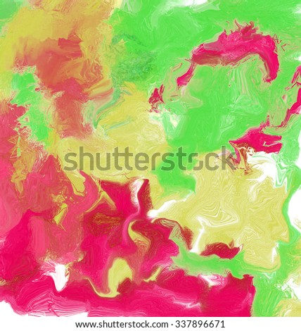 Abstract bright colour stains
