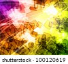 Abstract bright colourful background with spots of light - stock photo