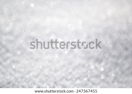 Abstract bright fresh defocused snow bokeh background. - stock photo
