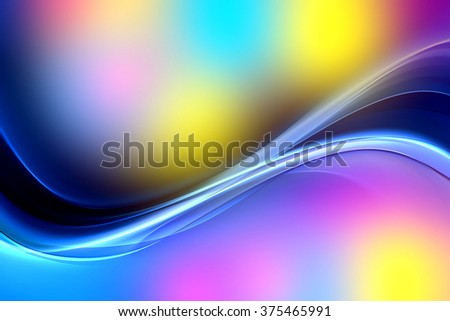 Abstract bright motion colorful background design. Modern wave digital illustration.