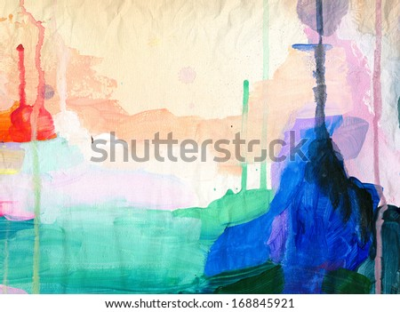 Abstract bright painting background - stock photo