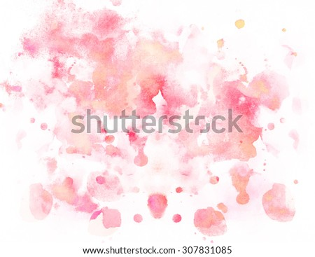 Abstract bright red colorful watercolor background - stock photo