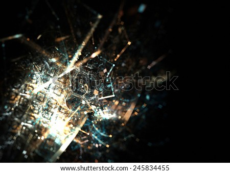 Abstract bright silver background. Sparkle digital  texture for creative design. Shiny decoration for wallpaper desktop, poster, cover booklet, flyer. Fractal artwork - stock photo