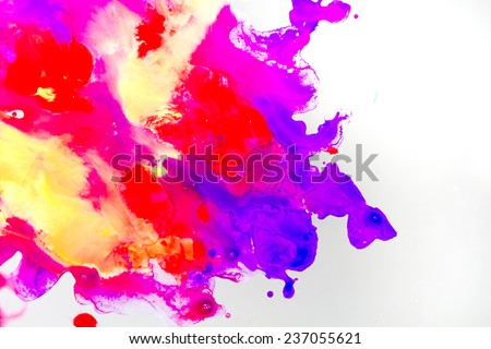 Abstract Bright Watercolor  grunge texture with paint splatter  - stock photo