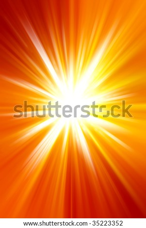 Abstract bright yellow and orange tone sunshine background. Copy space - stock photo