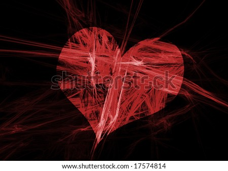 abstract broken heart - stock photo