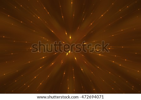 Abstract brown background defocused lights. illustration technology.