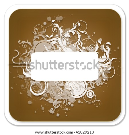 Abstract Brown Background with Banner