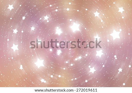 abstract brown background with scintillating circles and gloss - stock photo