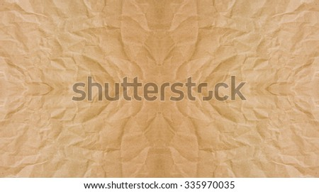 Abstract brown crumpled paper or recycle paper for backgrounds : crease of brown paper textures backgrounds for design,decorative. paper textures concept. - stock photo