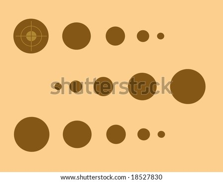 abstract brown dots - stock photo