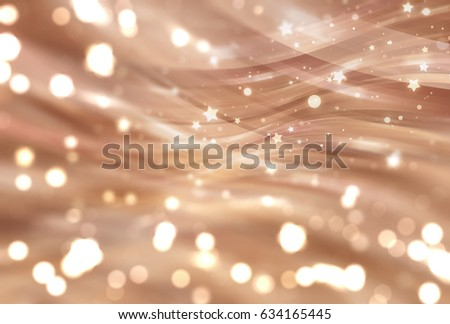 Abstract brown elegant background with glitter and waves. Fashionable illustration