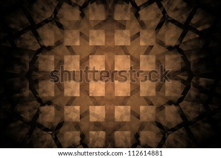 Abstract Brown Grunge Background - stock photo