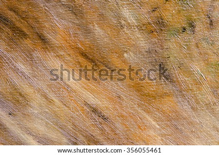 Abstract brown oil painting background with brush strokes on paint. Art concept. - stock photo