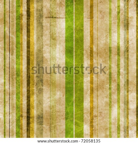 Abstract brown paper background with vertical stripes in green tones - stock photo