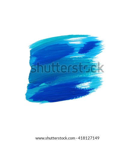 Abstract brush lines,blue color,design element