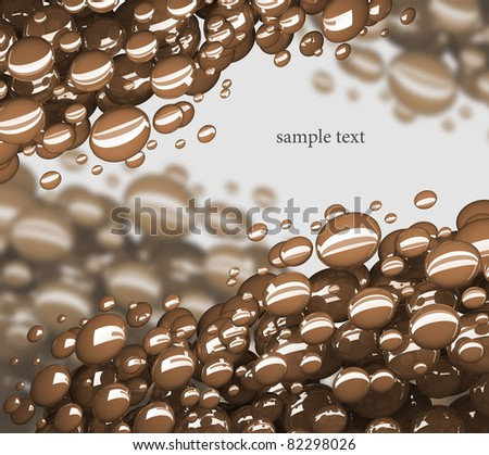 abstract bubbles 3d background