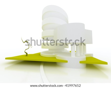 Abstract  building architectural model - stock photo