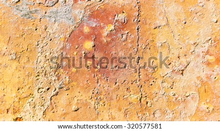 Abstract Building Brick in Orange for an Art Wall - stock photo