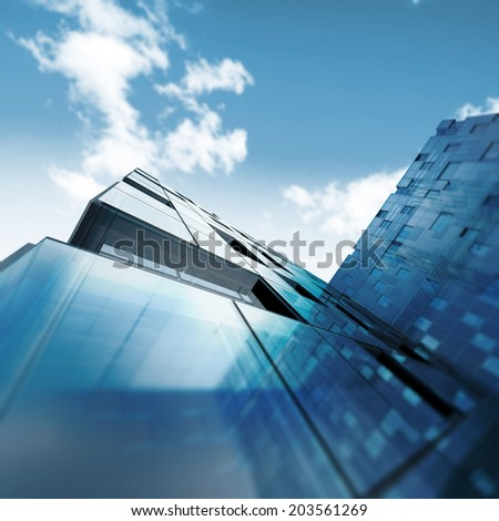Abstract building. Building design and 3d model my own - stock photo