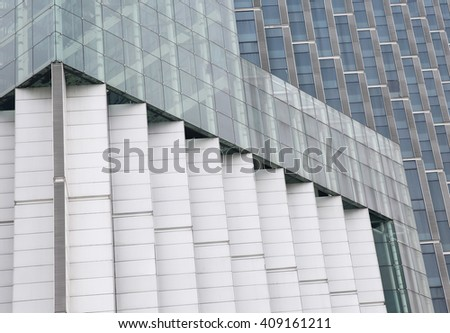 Abstract building exterior wall in modern city. - stock photo