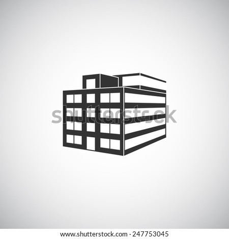 Abstract building silhouette. Real estate houses logos design template icon. Modern graphic concept element company style. Art illustration homes. Stylized contemporary emblem. - stock photo