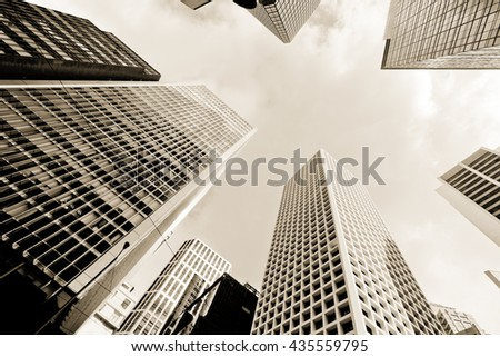 Abstract buildings background - stock photo