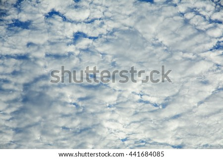 Abstract Burst Cloudy Blue Sky Background,Anime sunrise and sunset pastel cloudy sky background - stock photo