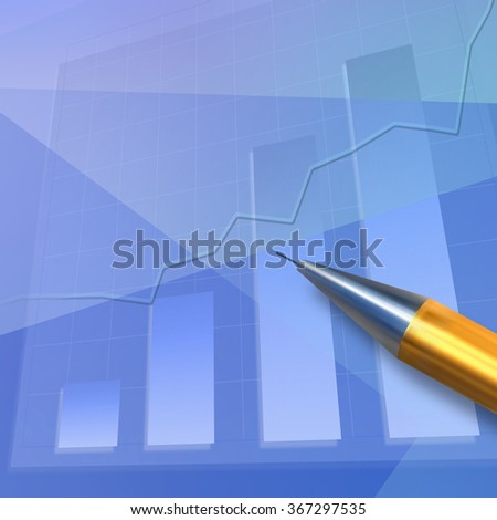 Abstract business background, illustrating the change in quotations - stock photo