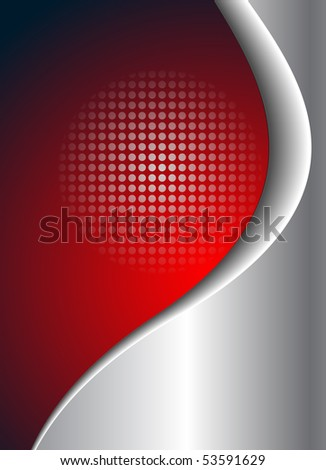 abstract business background red and silver. Jpg version. - stock photo