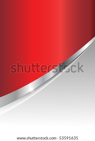 abstract business background silver metallic and red. Jpg version. - stock photo
