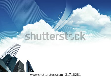 Abstract business background with room for copy