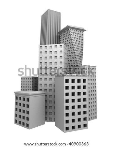 abstract business building composition
