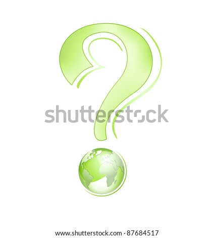 Abstract business globe design - global environment concept with green globe against white background including clipping path - raster version - eco concept - stock photo
