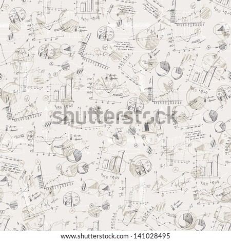 Abstract business graphs background. Raster version, vector file available in my portfolio. - stock photo