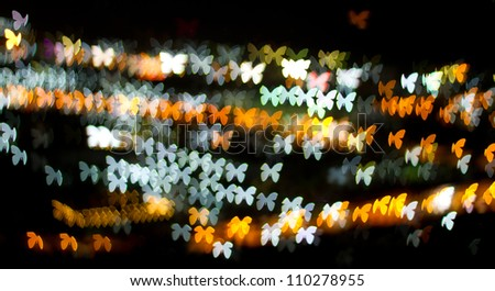 Abstract butterfly bokeh background, light bokeh background