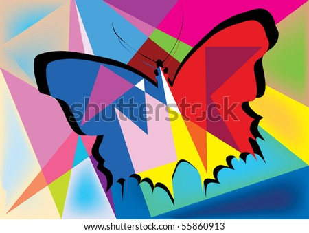 abstract butterfly design illustration